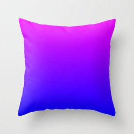 Fuchsia/Violet/Blue Ombre Throw Pillow
