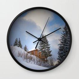 Chalet mountain cloud Wall Clock