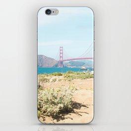 Golden Gate Bridge Beach iPhone Skin