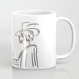 Abstract retro portrait of man and woman Coffee Mug