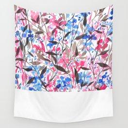 Wandering Wildflowers Pink  Wall Tapestry