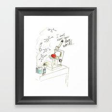 I don't know how love works Framed Art Print