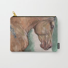 Cremello Horse Carry-All Pouch