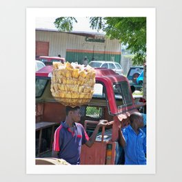 Plantains for Sale Art Print