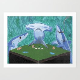 Card Sharks Art Print