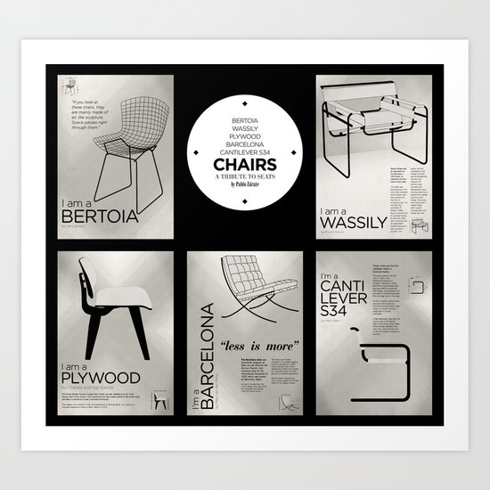 CHAIRS - A tribute to seats (special edition) Art Print