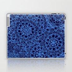 Periwinkle Blue Ballpoint Pen Lace Doodle Laptop & iPad Skin