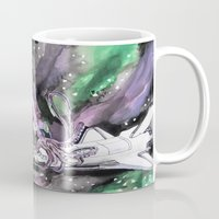 kraken Mugs featuring Space Kraken by Rachel Hoffman