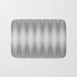 Cool Silver Grey Frosted Geometric Design Bath Mat