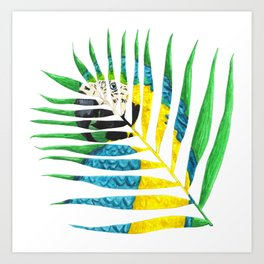 Parrot Palm Leaf Art Print