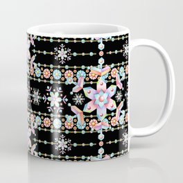 Folkloric Snowflakes Coffee Mug