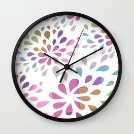 Colourful drops Wall Clock