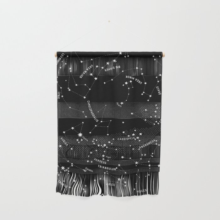 Constellation Map - Black Wall Hanging
