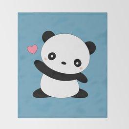 Kawaii Cute Panda Bear Throw Blanket