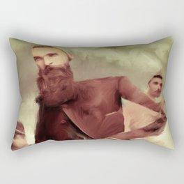 three gents Rectangular Pillow