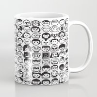movies Mugs featuring We love movies by Pinfloi