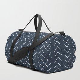 Mud Cloth Big Arrows in Navy Duffle Bag