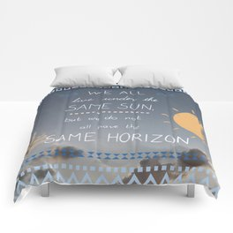 Same Sky, Different Horizon  Comforters