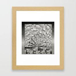 Mercury Glass Art Deco Sunburst Framed Art Print