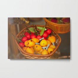 Cumquats & Lingonberries Metal Print