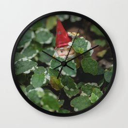 Peek-a-boo Gnome Wall Clock