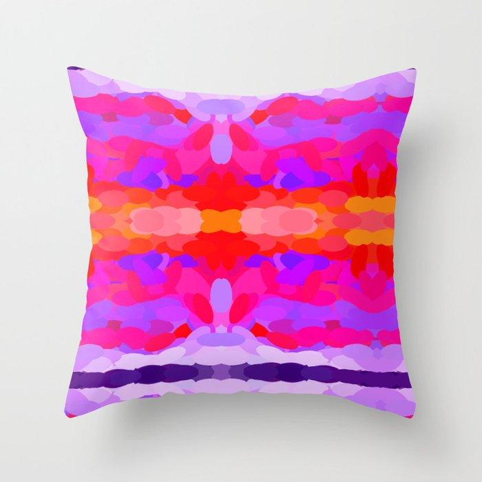 Purple, pink and orange tie dye Throw Pillow