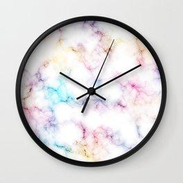 Rainbow Marble Pattern Wall Clock