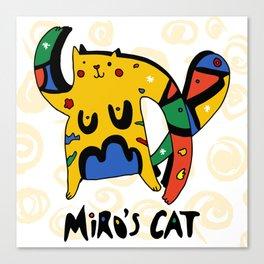 Joan Miro's Cat Canvas Print