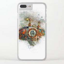 Steampunk Fish Clear iPhone Case
