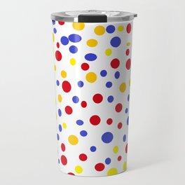 drops of colourful dots Travel Mug