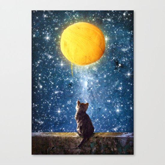 A Yarn of Moon Canvas Print