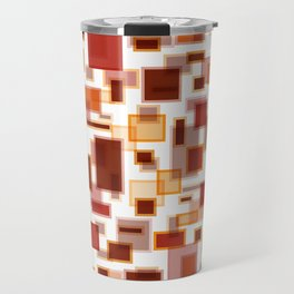 Red Abstract Rectangles Travel Mug