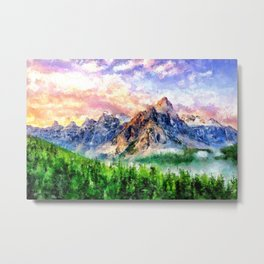 Artwork - Beautiful Mountain Metal Print