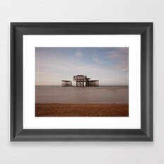 Remains Of brighton Pier Framed Art Print
