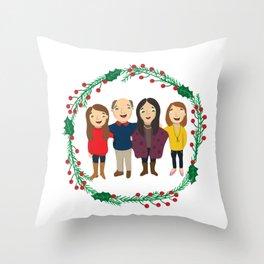 Custom Family Portait Throw Pillow
