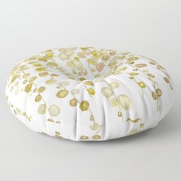 golden string of pearls watercolor 2 Floor Pillow