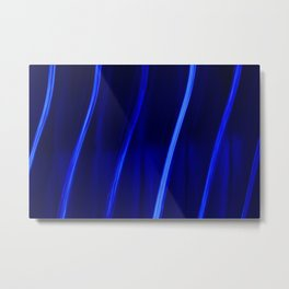 Abstract Crystal Blue Persuasion Metal Print