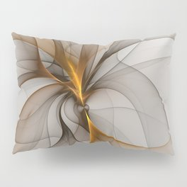 Elegant Chaos, Abstract Fractal Art Pillow Sham