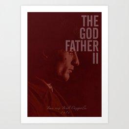 The Godfather Part II, Robert De Niro, Al Pacino, American movie poster Art Print