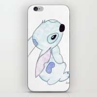 lilo and stitch iPhone & iPod Skins featuring stitch from lilo and stitch by Art_By_Sarah