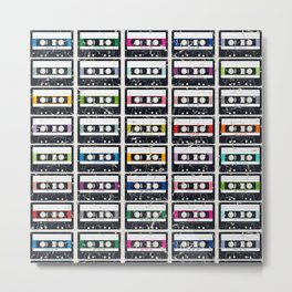 Cassette Tapes Metal Print