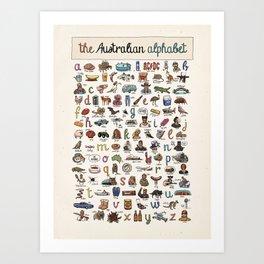 The Australian Alphabet Art Print