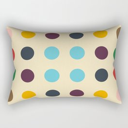 Kulhwch - Colorful Decorative Abstract Dotted Art Pattern Rectangular Pillow