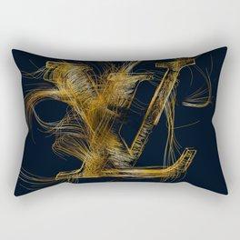 LV Fashion Logo Line Art Rectangular Pillow