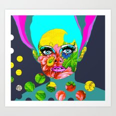 Flower power Art Print