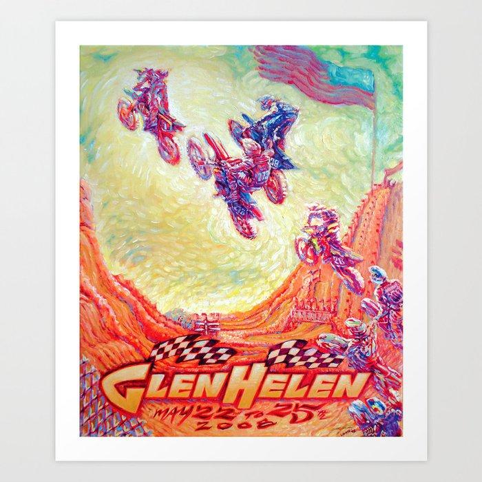 Glen Helen Motocross 2008 Art Print