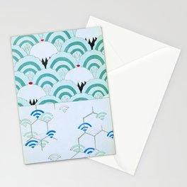 JAPANESE FAN PRINT Stationery Cards