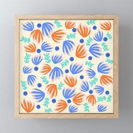 Coral reef Blue - Matisse inspired Framed Mini Art Print