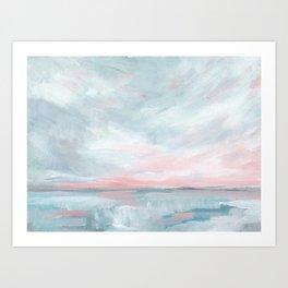 Waves of Change - Stormy Sea Seascape Art Print
