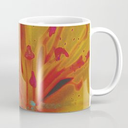 Yellow Lily Up Close Solarized Colors #3 Coffee Mug